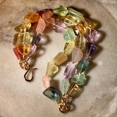 GEMMA Mixed Gemstone Bracelet by stonecraft on Etsy, $235.00