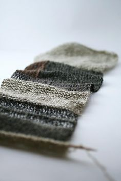 ombre scarf = habu mohair silk linen/paper boucle yarns