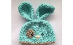 Crochet Bunny Hat: image only Crochet Kids Hats, Crochet Cap, Crochet Amigurumi, Easter Crochet, Crochet Bunny, Crochet Beanie, Love Crochet, Crochet Crafts, Yarn Crafts