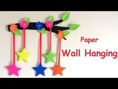 DIY - Wall Hanging from Paper /paper craft /card board craft /Room/ Home decoration idea Paper Wall Hanging, Paper Wall Decor, Wall Hanging Crafts, Diy Wall Decor, Room Decor, Home Crafts, Easy Crafts, Paper Paper, Paper Crafts