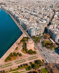 Thessaloniki, Archaeological Site, Travel Maps, Aerial Photography, Greece Travel, Greek Islands, Athens, The Good Place, City Photo