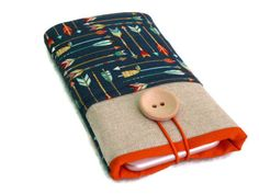 Nokia 6 case, arrows, Nokia 6 sleeve, Fairphone 1 Case, Fairphone 2 case, Fabric case, Nokia phone pouch, Nokia 6 pouch, Nokia 5 cover by Driworks on Etsy