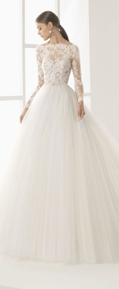 Best A-line Wedding Dresses : Amazing Tulle Bateau Neckline See-through Bodice A-Line Wedding Dress With Lace