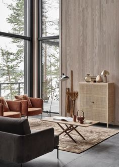 New home with a warm interior / interior design Interior Design Inspiration, Home Interior Design, Interior Architecture, Luxury Interior, Japan Interior, Simple Interior, Room Inspiration, Living Room Designs, Living Room Decor