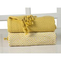 Affinity Home Collection Elegancia Diamond Weave Cotton Throw Blanket