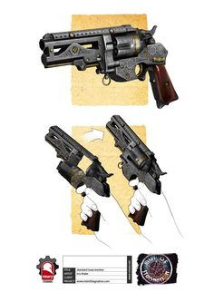 Steampunk Double-Barrelled Revolver