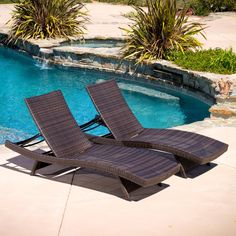 Lakeport Outdoor Adjustable Chaise Lounge Chairs (set of 2)