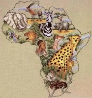 ru / Фото - Africa by Mike Vickery - irchen Cross Stitch Books, Cross Stitch Animals, Cross Stitch Charts, Cross Stitch Embroidery, Cross Stitch Patterns, African Animals, African Art, African Children, African Quilts