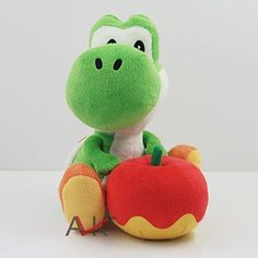 Super Mario Bros  Brothers Yoshi with Apple 65 Anime Animal Stuffed Plush Plushies Doll Toys *** Check out this great product.