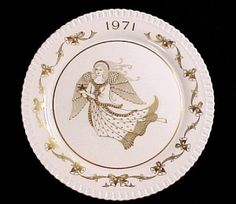 1971 Bone China Christmas Plate with Angel Limited Edition 2nd