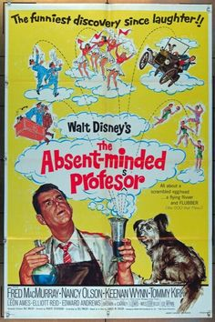 MovieArt Original Film Posters - ABSENT-MINDED PROFESSOR, THE (1961) 26138, $35.00 (https://www.movieart.com/absent-minded-professor-the-1961-26138/)