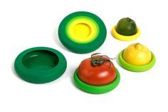 Food Huggers : Le protège fruits & légumes entamés   NeozOne http://www.neozone.org/innovation/food-huggers-protege-les-fruitslegumes-et-boites-entamees/