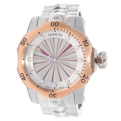 Invicta 14603 Men's Watch Venom Turbine Dial 18K Rose Gold Bezel With Stainless Steel Band