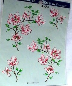 Meyercord 1986 Vintage Pink Dogwood Decal by CarmelasCreations