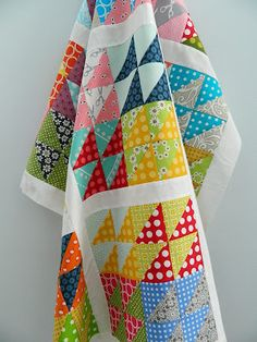 small hst pattern.....maybe a use for all those scrap pieces in the basket?