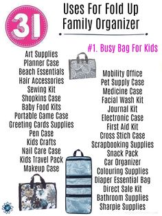 Thirty-One Uses for the Fold Up Family Organizer