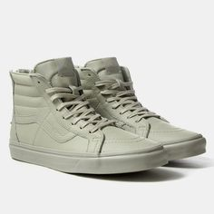 Vans Shoes Sk8-Hi Zip CA Shoes - (Boot Leather) Agate Grey