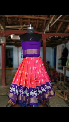Ikkat pavada 9866242242 Kids Lehenga, Summer Dresses, Colors, Baby, Fashion, Moda, Sundresses, La Mode, Colour