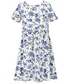Copper Key Big Girls 716 ShortSleeve Floral Printed Woven Dress #Dillards