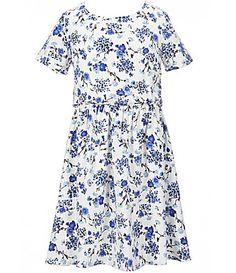 Copper Key Big Girls 716 ShortSleeve Floral Printed Woven Dress #Dillards
