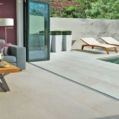 limestone flooring Bringing the Outside in and the Inside Out with Limestone Floor Tiles Outside Tiles, Outside Flooring, Balcony Flooring, Outdoor Flooring, Kitchen Flooring, Flooring Tiles, Patio Tiles, Outdoor Tiles Patio, Patio Bar