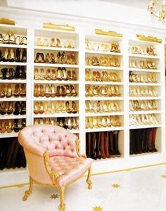 Well, this would be the closet for my shoes - the other wall would be for my purses.