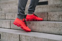 CLOT x Nike Air VaporMax Flyknit University Red #Nike #Inside #Sneakers