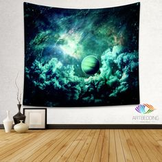 Galaxy Tapestry, Fantasy space wall tapestry, Galaxy tapestry wall hanging, Galaxy home decor, Space wall art print