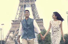 Paris eiffel tower engagement
