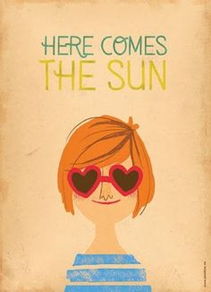 Here comes the sun- would be cute as a card