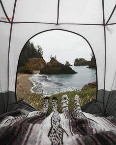 Camping with a view. Camping with a view. Camping with a view. Camping with a view. Adventure Awaits, Adventure Travel, Greatest Adventure, Camping Sauvage, Camping Photography, Ocean Photography, Camping Life, Camping Hacks, Outdoor Camping