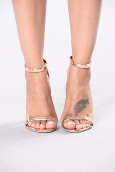 Both Worlds Heel - Rose Gold