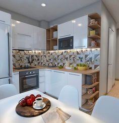 American kitchen design american kitchen cabinets american kitchen with bar kitchen breakfast bar Apartment Kitchen, Living Room Kitchen, Kitchen Decor, Kitchen Cook, Decorating Kitchen, Apartment Design, Kitchen Ideas, Luxury Kitchens, Home Kitchens