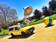 group recreates the pizza planet truck and drive it up to pixar!!