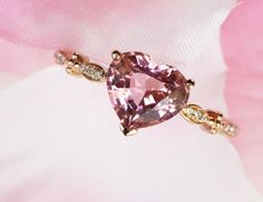 Heart pink morganite Engagement Rose gold,diamond Wedding Band,Ring Show Tourmaline,Emerald Topaz Citrine Birthstone available by milegem on Etsy Heart Jewelry, Cute Jewelry, Jewelry Rings, Jewelery, Jewelry Accessories, Heart Engagement Rings, Morganite Engagement, Luxury Jewelry, Wedding Ring Bands