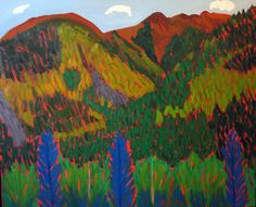 ALYCE FRANK SEPTEMBER AT TAOS SKI VALLEY Oil on linen 30 x 40 inches $7000.