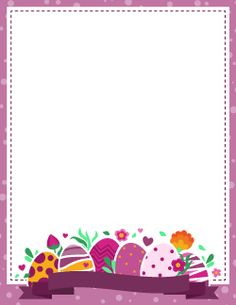 Purple Easter Border
