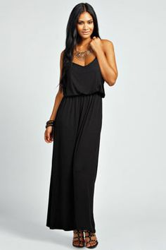 Callie Strappy Bagged Over Maxi Dress at boohoo.com