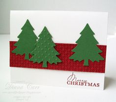Items similar to Personalized Christmas Cards - Set of 10 Hand Crafted Christmas Cards - Custom Holiday Card Set - Winter Pine Christmas Tree Cards on Etsy Homemade Christmas Cards, Christmas Cards To Make, Xmas Cards, Christmas Greetings, Homemade Cards, Holiday Cards, Christmas Crafts, Christmas Decorations, Rustic Christmas