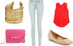 """""""pinkandred"""" by dreamer-dx on Polyvore"""