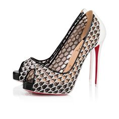 c9e47bddf3be Very Lace 120 Version Latte-Black Maxi Fishnet - Women Shoes - Christian  Louboutin
