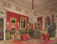 Виды залов Зимнего дворца. Кабинет императрицы Марии Александровны. Л. Премацци. 1869 г