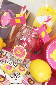 Pink Lemonade Party Printables Kit