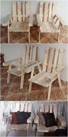 Here we have the durable and much simple elegant designing of the chairs artwork for you where the charming use of the wood pallet material has been dramatic added up inside it. It look stylish and much a catchier option for your house areas.
