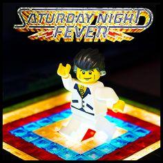 Getting Night Fever by iElkie Lego Film, Lego Tv, Big Lego, Lego Movie, Music Film, Art Music, Lego Decals, Saturday Night Fever, Lego Table