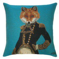 Fab Funky Fox Belgian Tapestry Cushion