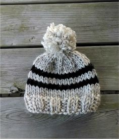 Fiber Flux...Adventures in Stitching: Free Knitting Pattern! Toddler Rugby Hat...