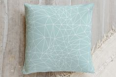 Geometric Net Pillow by Cindy Lackey | Minted