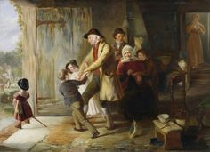 Going to the Fair - 1837  Painting by Thomas Webster