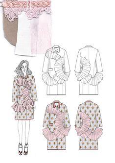 ideas fashion portfolio design drawings for 2019 Fashion Sketchbook, Textiles Sketchbook, Fashion Illustration Sketches, Fashion Sketches, Dress Sketches, Design Illustrations, Sketchbook Drawings, Fashion Design Portfolio, Fashion Design Drawings